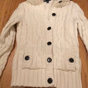 GAP Sweaters - Long sleeve button up hooded sweater.